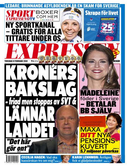 Expressen February 08, 2018 00:00