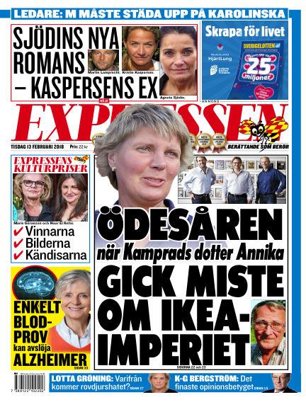 Expressen February 13, 2018 00:00