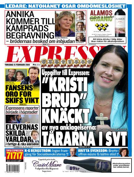 Expressen February 15, 2018 00:00