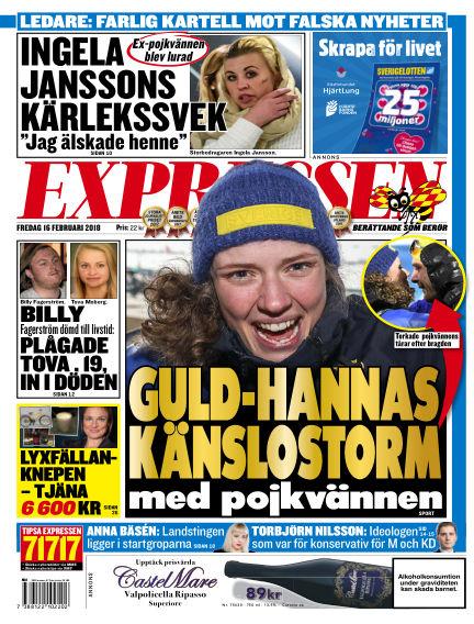 Expressen February 16, 2018 00:00