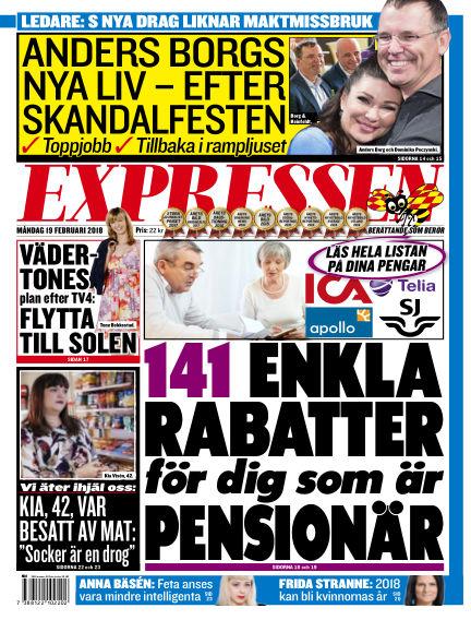 Expressen February 19, 2018 00:00