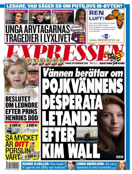 Expressen February 20, 2018 00:00