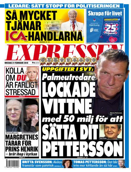 Expressen February 21, 2018 00:00