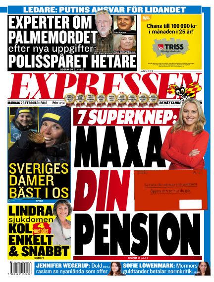 Expressen February 26, 2018 00:00