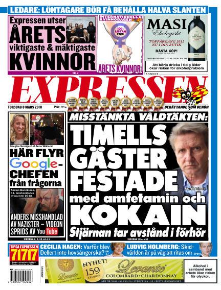 Expressen March 08, 2018 00:00