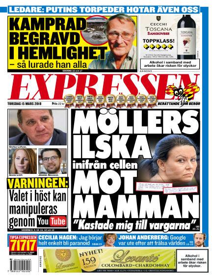 Expressen March 15, 2018 00:00