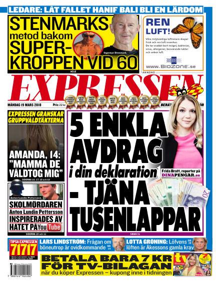 Expressen March 19, 2018 00:00