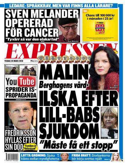 Expressen March 20, 2018 00:00