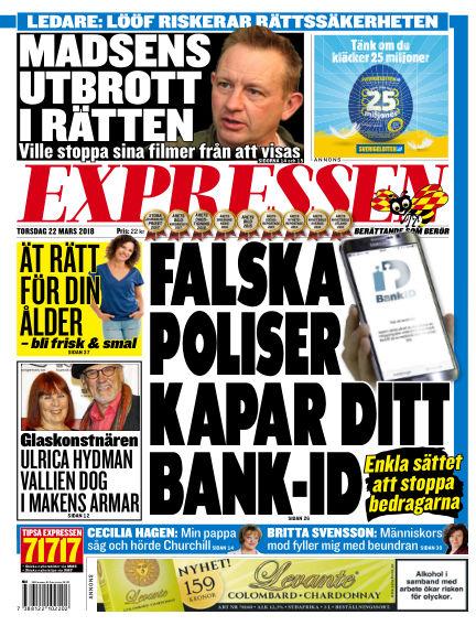 Expressen March 22, 2018 00:00