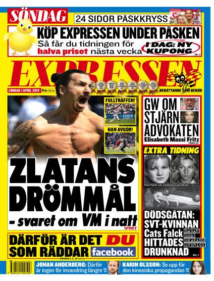 Expressen April 01, 2018 00:00