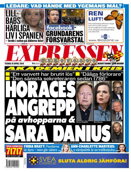 Expressen April 10, 2018 00:00