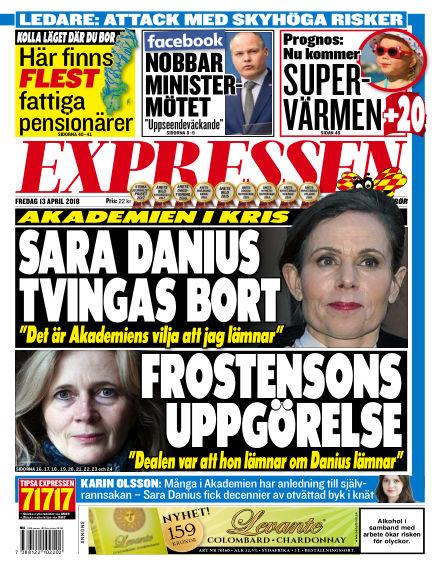 Expressen April 13, 2018 00:00