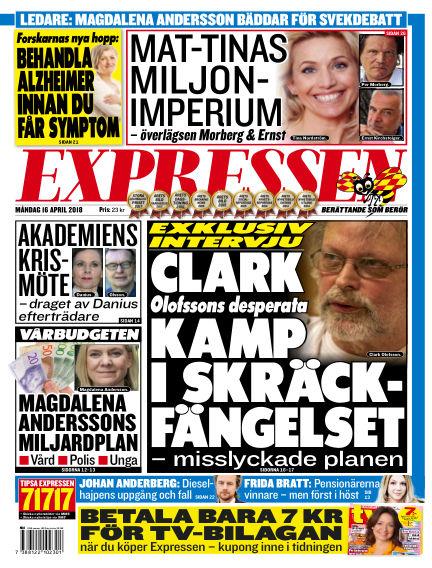 Expressen April 16, 2018 00:00