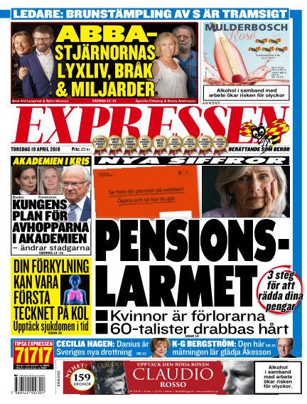 Expressen April 19, 2018 00:00