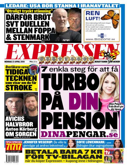 Expressen April 23, 2018 00:00