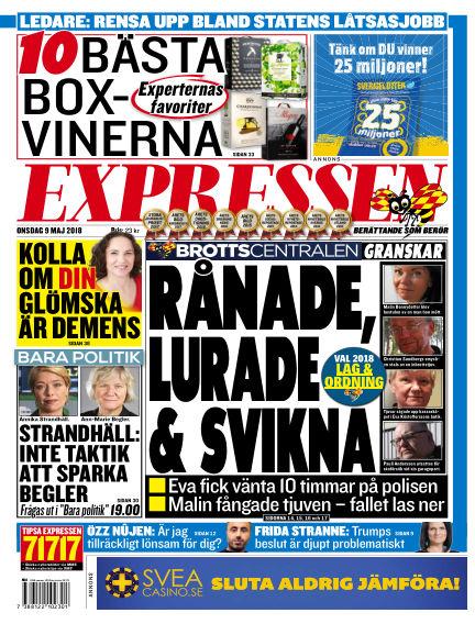 Expressen May 09, 2018 00:00