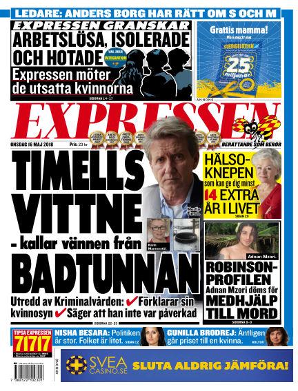 Expressen May 16, 2018 00:00