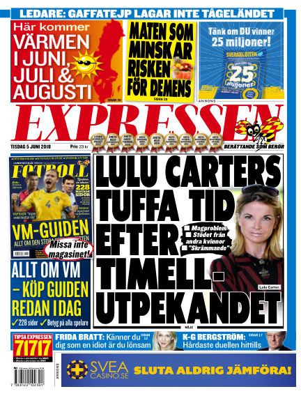 Expressen June 05, 2018 00:00