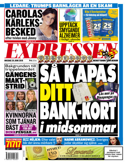 Expressen June 20, 2018 00:00