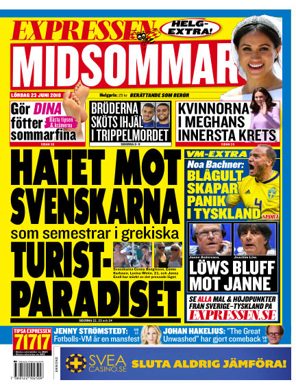 Expressen June 23, 2018 00:00