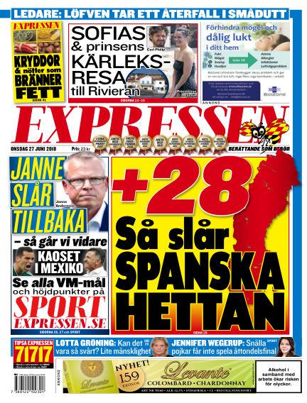 Expressen June 27, 2018 00:00
