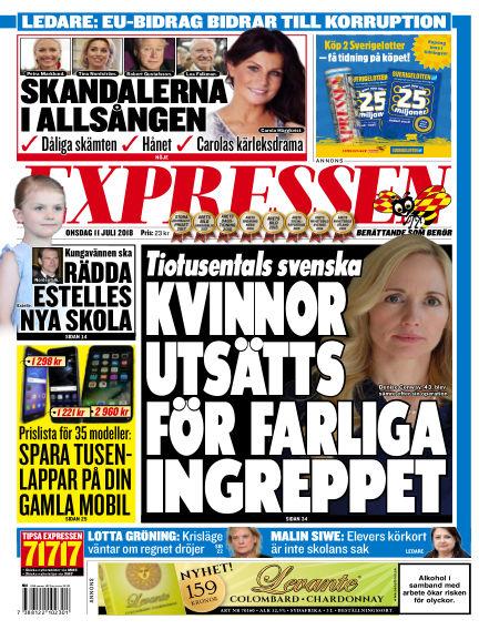 Expressen July 11, 2018 00:00