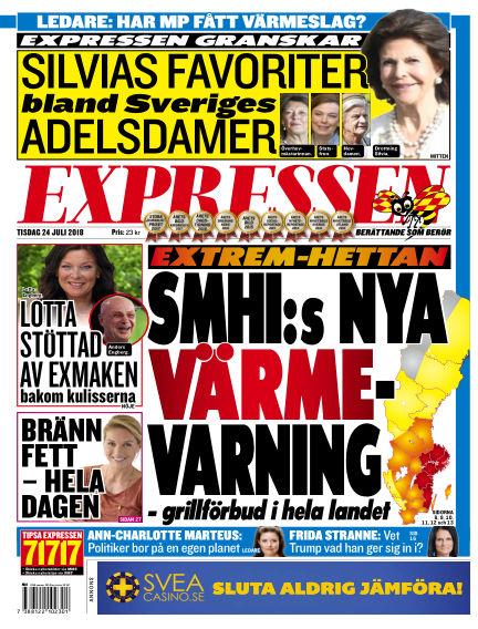 Expressen July 24, 2018 00:00