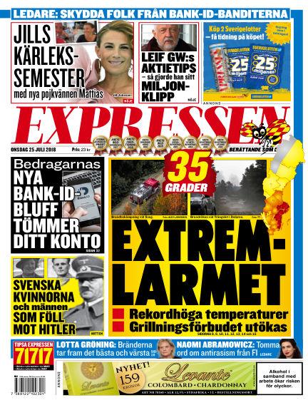 Expressen July 25, 2018 00:00