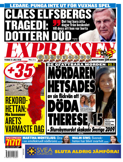 Expressen July 31, 2018 00:00