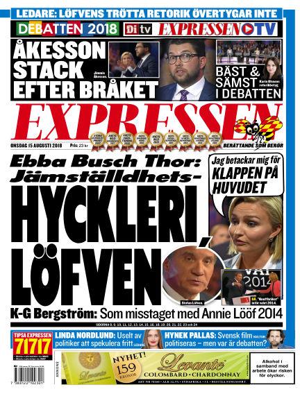 Expressen August 15, 2018 00:00