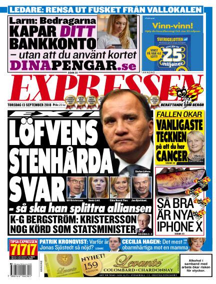 Expressen September 13, 2018 00:00