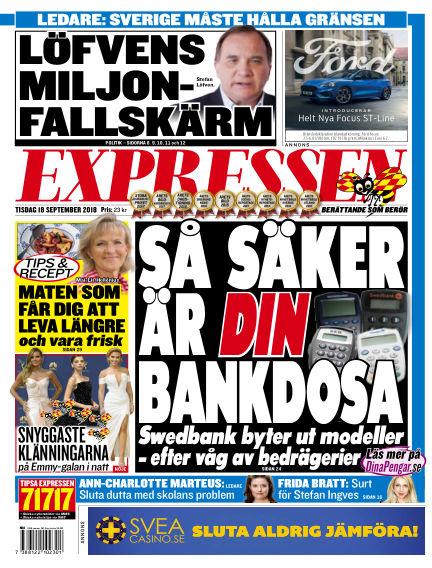 Expressen September 18, 2018 00:00