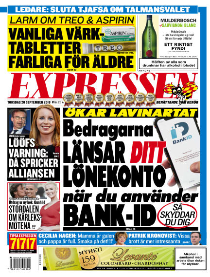 Expressen September 20, 2018 00:00
