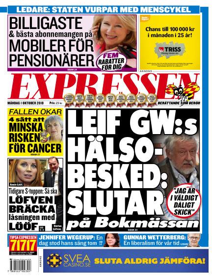 Expressen October 01, 2018 00:00
