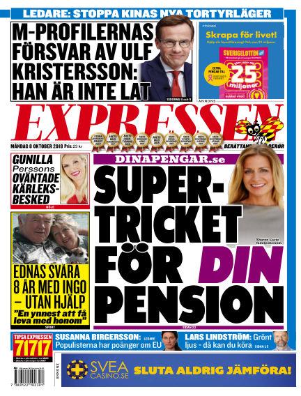 Expressen October 08, 2018 00:00