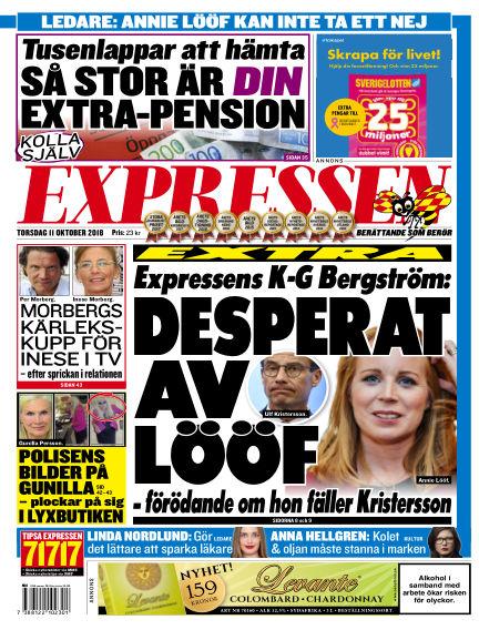 Expressen October 11, 2018 00:00