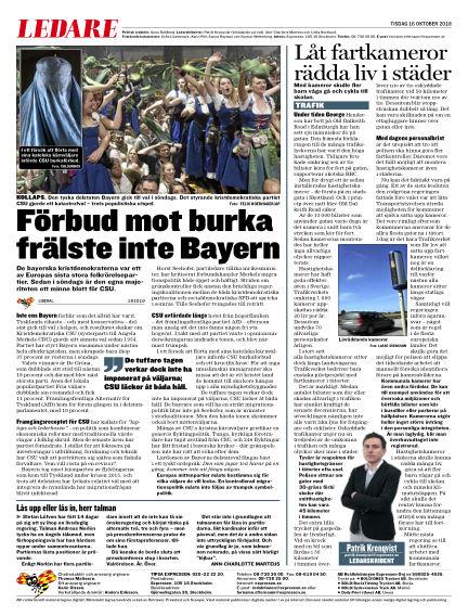 Expressen October 16, 2018 00:00