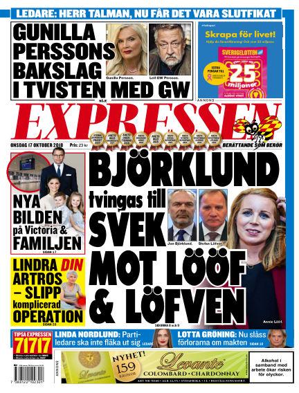 Expressen October 17, 2018 00:00