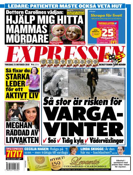 Expressen October 25, 2018 00:00