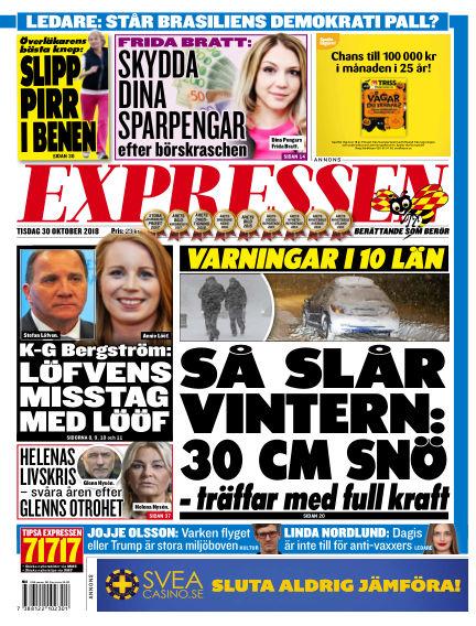 Expressen October 30, 2018 00:00