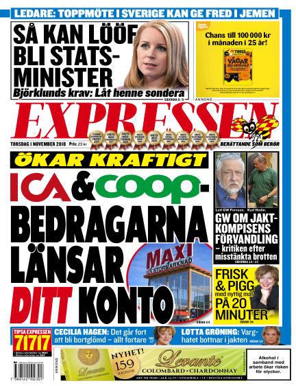 Expressen November 01, 2018 00:00