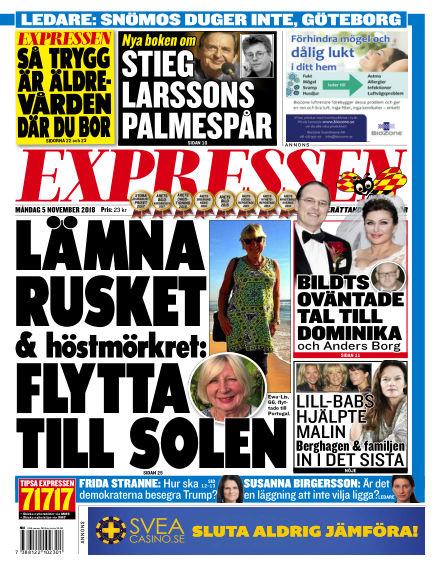 Expressen November 05, 2018 00:00