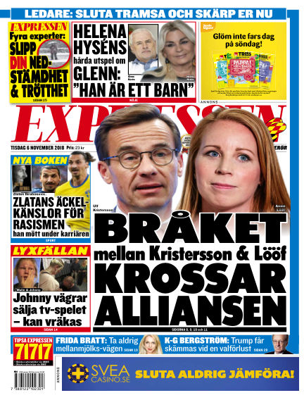 Expressen November 06, 2018 00:00