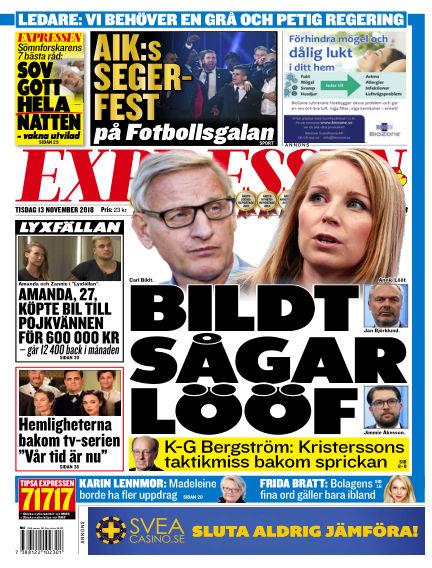Expressen November 13, 2018 00:00