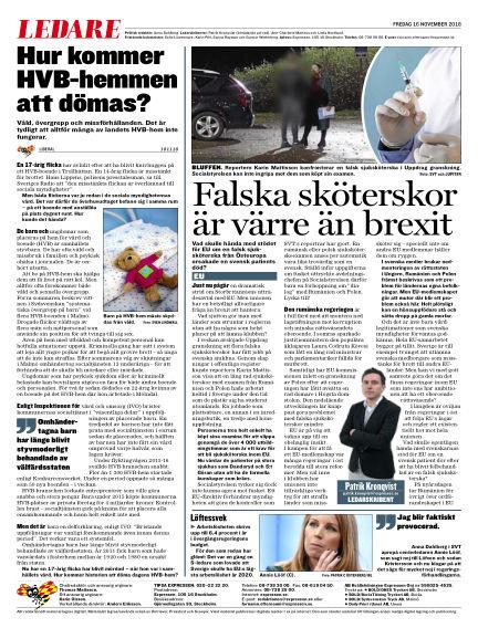Expressen November 16, 2018 00:00