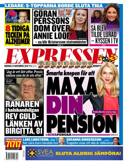 Expressen November 19, 2018 00:00