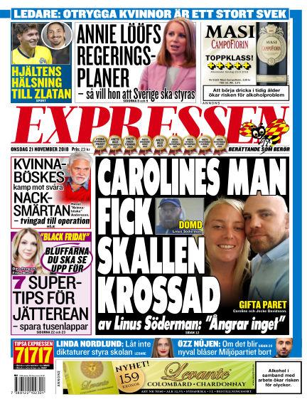 Expressen November 21, 2018 00:00