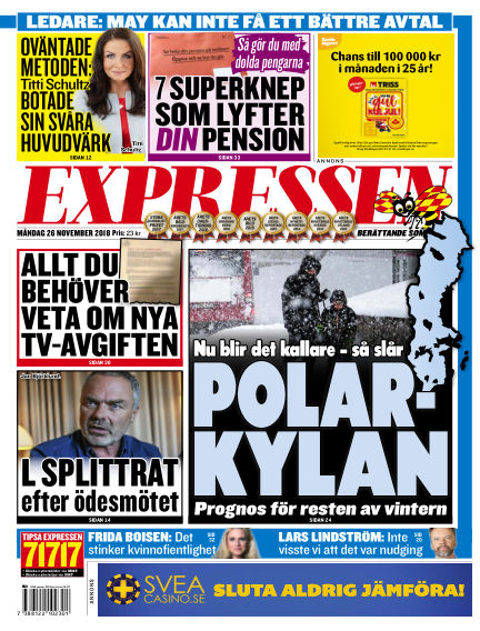 Expressen November 26, 2018 00:00