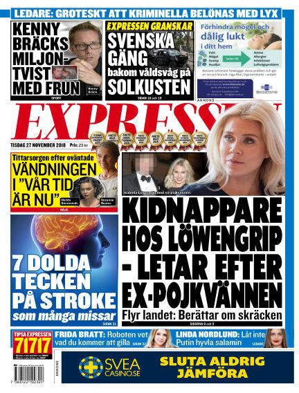 Expressen November 27, 2018 00:00