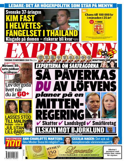Expressen November 29, 2018 00:00